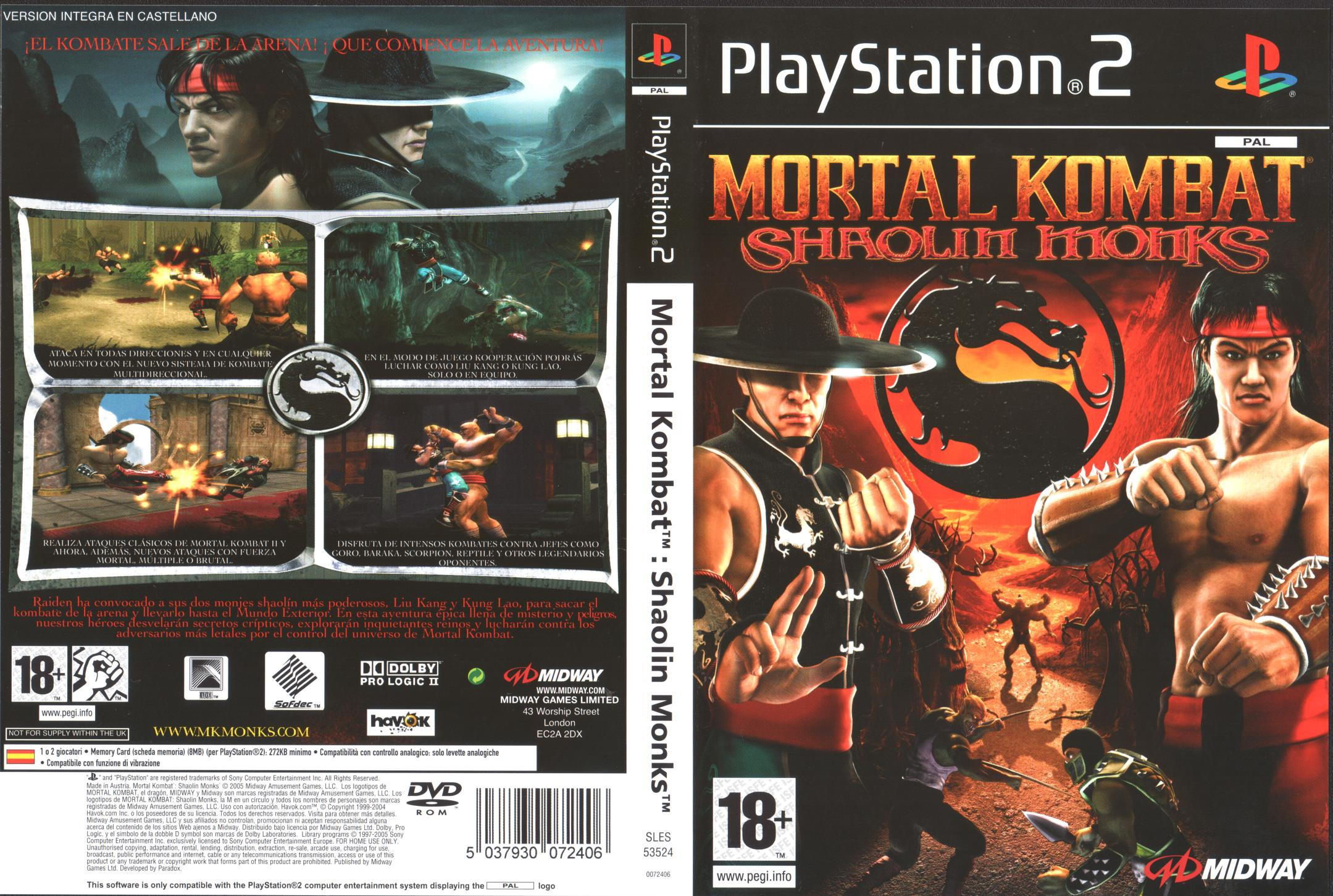 [Aporte] Mortal Kombat Shaolin Monks [PAL] [ESP] [JF]