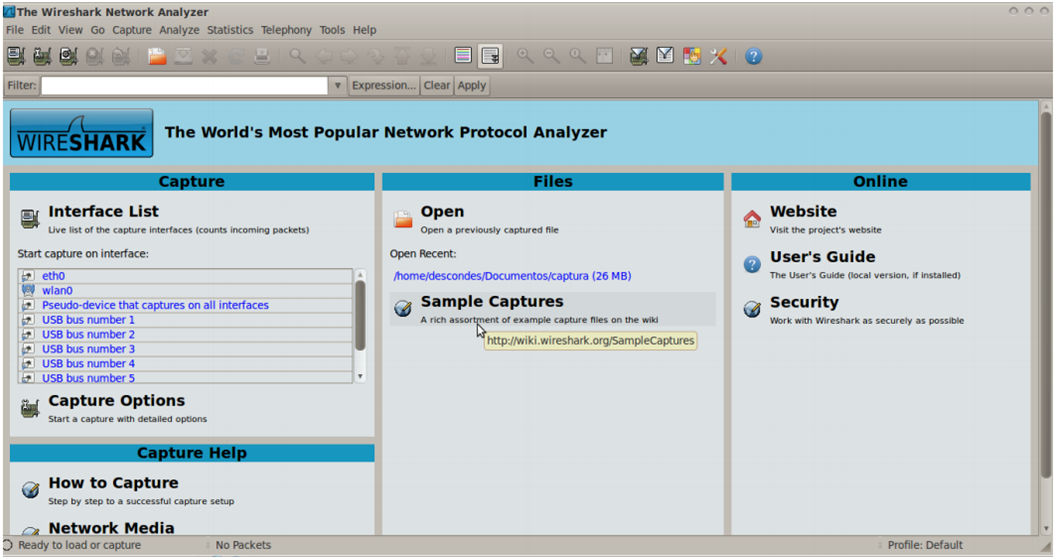 WireShark (sniffer)