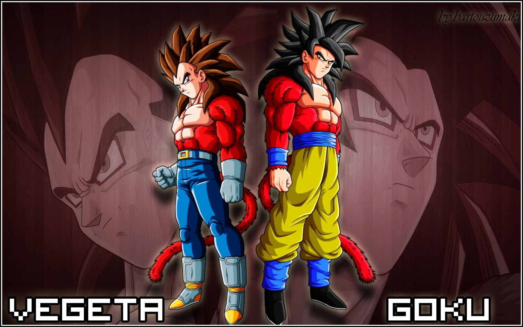 Wallpaper Goku Y Vegeta Ssj4 Full HD